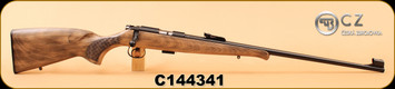 "CZ - 22LR - 455 Rustic Training - Beechwood Stock W/ Schnabel Forend/Blued, 24.8"" Cold Hammer Forged Barrel, Rustic Finish, S/N C144341"