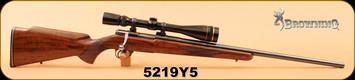 """Used - Browning - 222 - Safari - Wd/Bl, 24"""", c/w Leupold VX-III 6.5-20x40mm Fine Duplex - 400pcs new brass, Die Set"""