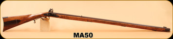"Consign - Matt Avance - 50Cal - Tennessee Valley Flint Lock - Leman Style Southern Rifle - Supreme Maple/Browned steel , 42"", L&R Late English Goose Neck flint lock, RE Davis double set triggers"