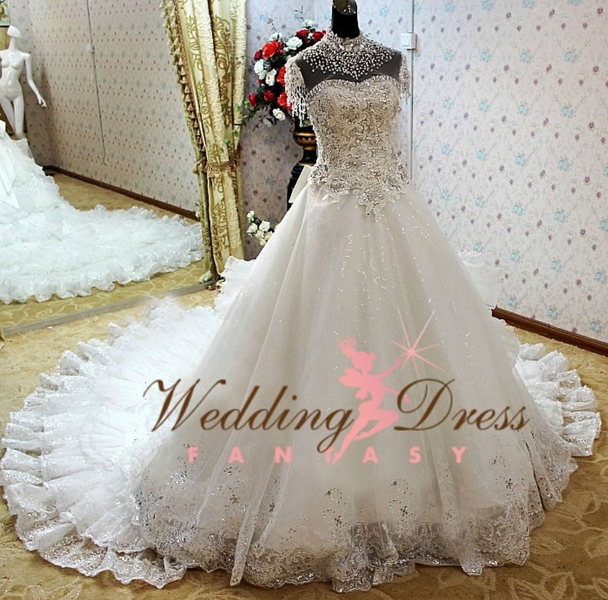 Gypsy wedding dress and irish traveller wedding dress for Big gypsy wedding dresses for sale