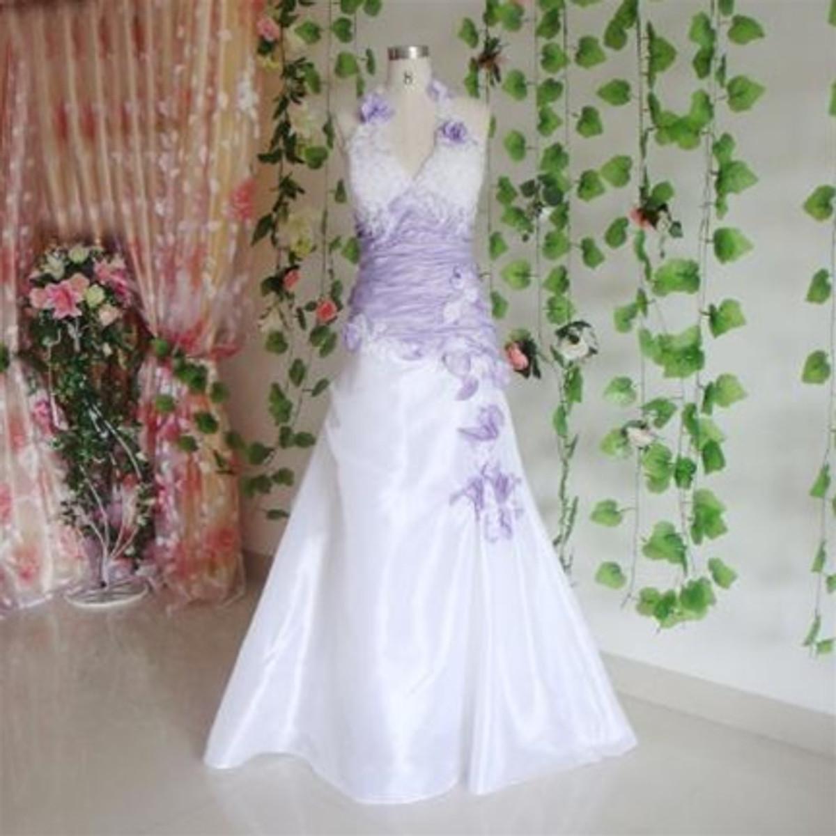 Purple wedding dress lavender wedding dress for White and lilac wedding dress