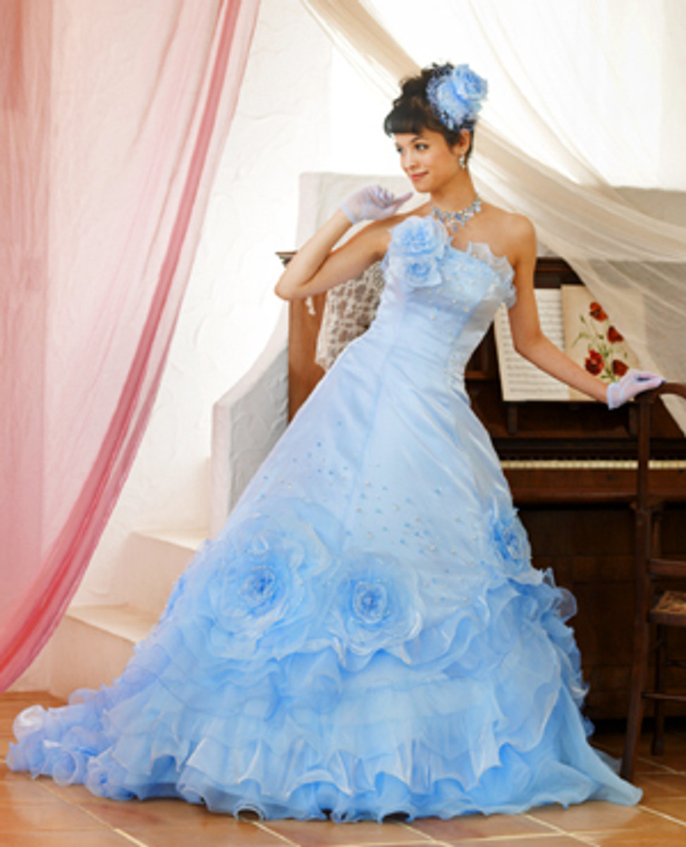 Light Blue Wedding Dress - Wedding Dress Fantasy