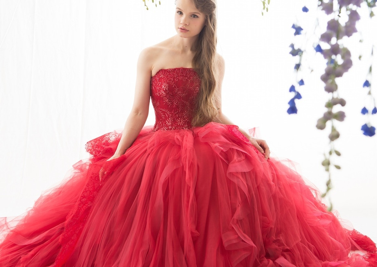 Red wedding dresses for Pics of red wedding dresses