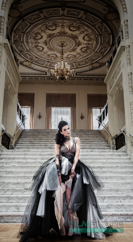 gothic vintage custom wedding dress
