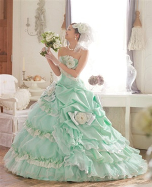 Green Wedding Dress - Available in Every Color