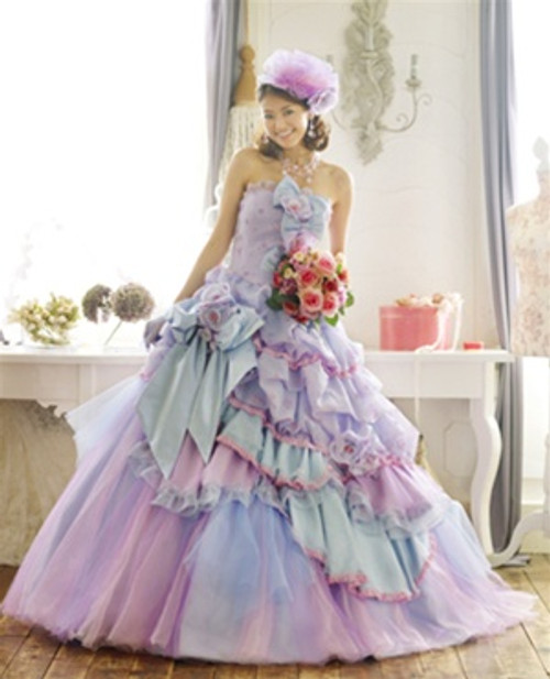 Lavender Wedding Dress