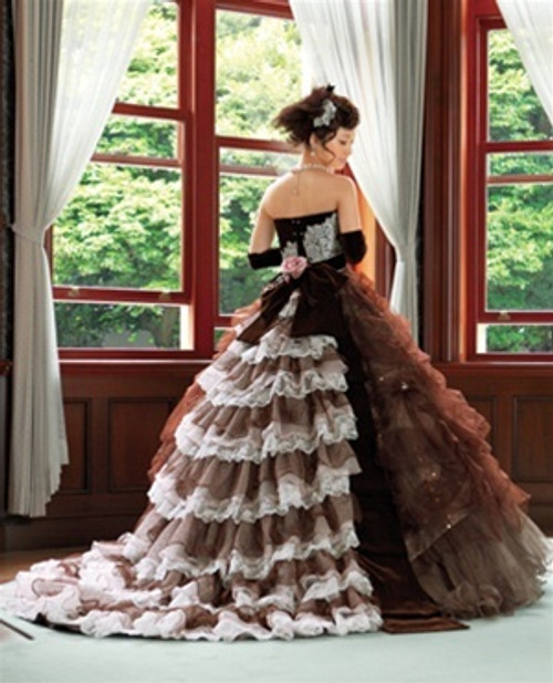 Brown Wedding Dress