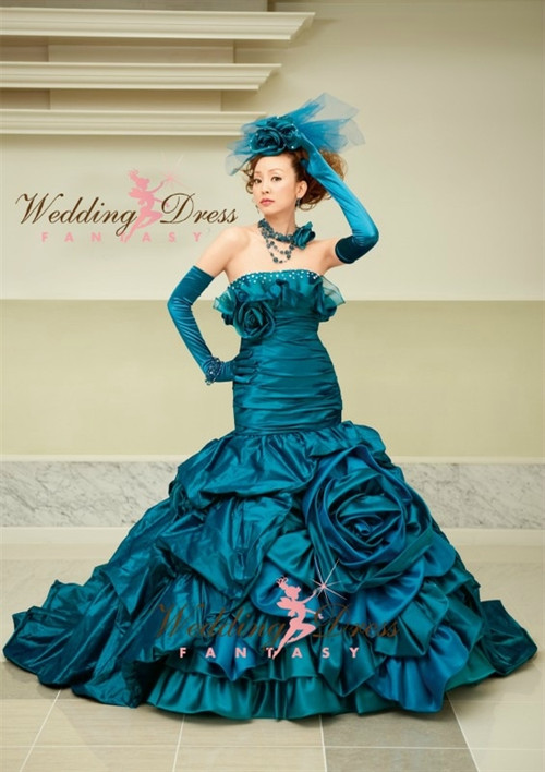 Teal Blue Wedding Dress Available in Every Color