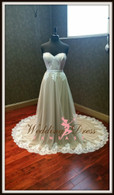 Sweetheart Lace and Stretch Wedding Dress