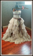 Rustic Steampunk Wedding Dress  - Available in Every Color