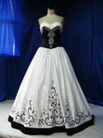 Black and White Wedding Dress - Available in Every Color