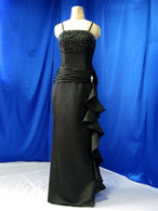Satin Black Wedding Dress - Available in Every Color