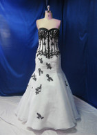 Black and White Wedding Dress - Available in Every Color 4