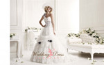 Alice Couture Wedding Dress in Black and White Corset Style