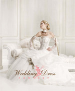 Mabel Couture Wedding Dress in Champagne and White
