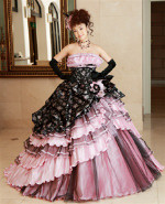 Pink and Black Wedding Dress - Available in Every Color