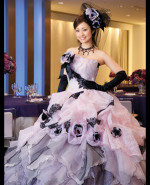 Pink and Black Wedding Dress - Available in Every Color 2