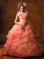Coral Pink Wedding Dress - Available in Every Color