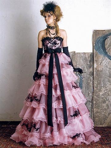 Pink Wedding Dress Pink Wedding Gown Pink Bridal Gown Custom Pink