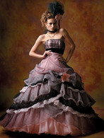 Pink and Black Wedding Dress - Available in Every Color 4