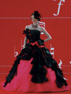 Black and Pink Wedding Dress