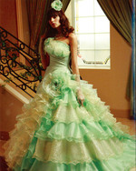 Lime Green Wedding Dress - Available in Every Color