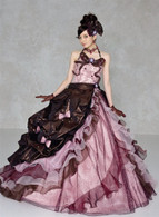 Pink and Brown Bridal Gown  - Available in Every Color
