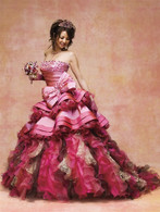 Pink Bridal Gown  - Available in Every Color 2