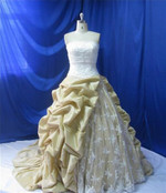 Gold Taffeta Wedding Dress - Available in Every Color 1