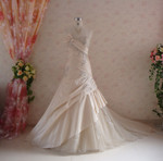 Trumpet Style Gold Taffeta Wedding Dress - Available in Every Color