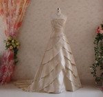 Gold Taffeta Wedding Dress - Available in Every Color 6
