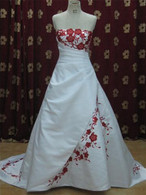 Red and White Wedding Dress - Available in Every Color 1