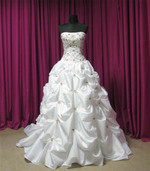 Red and White Wedding Dress - Available in Every Color 2