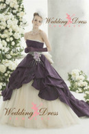 Purple Bridal Gown Available in Every Color 1