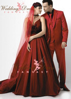 Vampire Red Wedding Dress Available in Every Color