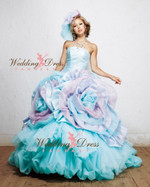 Aqua and Lavender Wedding Dress Available in Every Color