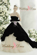 Black and White Wedding Gown Available in Every Color