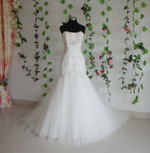 Trumpet Style Vintage Inspired Wedding Dress- Available in Every Color 1