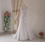 Trumpet Style Vintage Inspired Wedding Dress- Available in Every Color 3