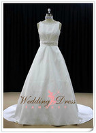 A-Line Wedding Dress with Boatneck