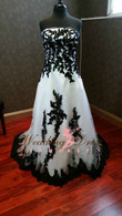 Black and White Bridal Gown BWDN151 - Available in Every Color