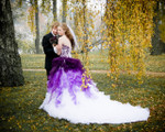 Purple and White Ombre Bridal Gown Available in Every Color