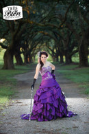 Breathtaking Purple Bridal Gown Available in Every Color