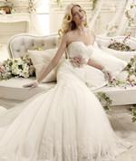 Designer Inspired Wedding Dress Pink Sash