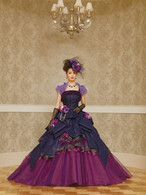 Peacock Themed Blue and Purple Wedding Dress