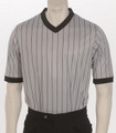 ELITE Performance Grey Pinstriped V-Neck Basketball and Wrestling Referee Shirt