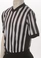 ELITE Side Panel Black and White Striped V-Neck Shirt