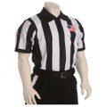 "Smitty Made in USA Mens 2 1/4"" Black and White Striped Football Referee Shirt-Short Sleeve"