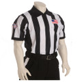 "SCFOA Smitty Made in USA Mens 2 1/4"" Black and White Striped Football Referee Shirt-Short Sleeve"