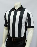 "Smitty 2 1/4"" Stripes Elite Performance Interlock Short Sleeved Football Referee Shirt"